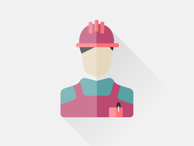 worker pocket profile hat guy worker