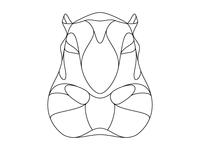 Hippopotamus Outline