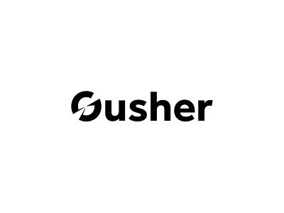 Gusher Brand Identity design business logo business brand design startups startup logo startup logos logo branding