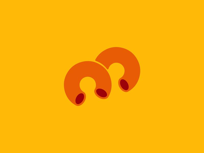 Macaroni logo concept logoideas logofolio logomaker logodesigner logoconcept logo logoconceptday gold orange yellow pasta macaroniday macaroni