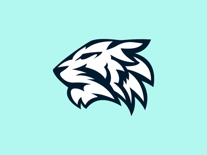 Tiger logo concept logoconcept logo logoconceptday neon blue catlike feline bigcat tigerday tiger
