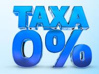 Taxa zero varejo propaganda lettering 3D
