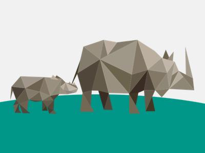Rhinoceros illustration