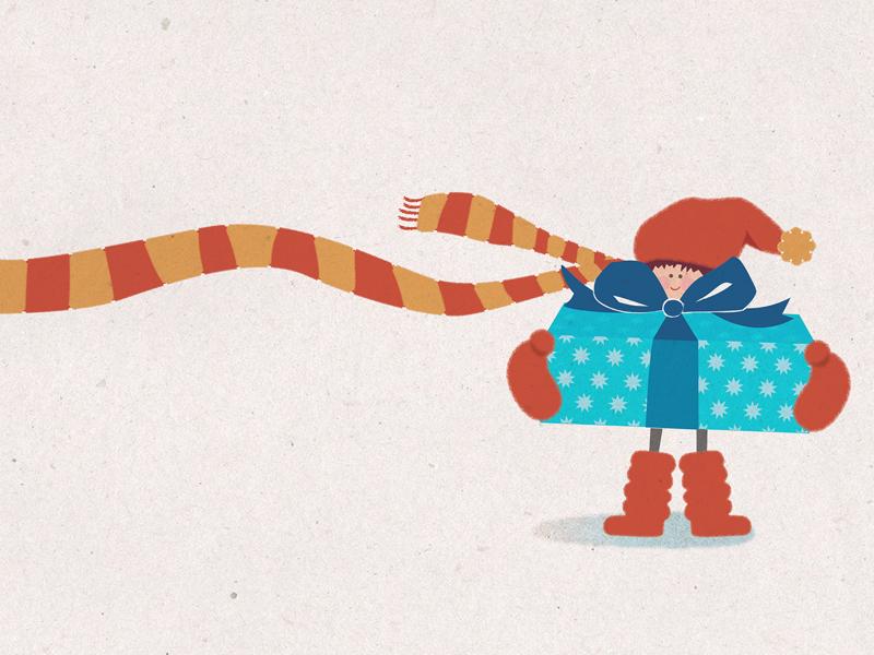 Merry Christmas illustrator aspen gift merrychristmas