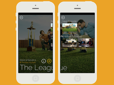 TV App Concept (2 of 2) ios mobile mobile app design tv images thin type