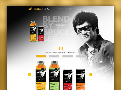 Bruce Lee Tea Website website yellow bruce lee drinks collab
