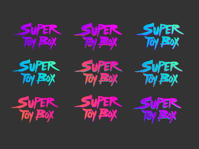 Super Toy Box Logo Coloways colorway 80s pop logo