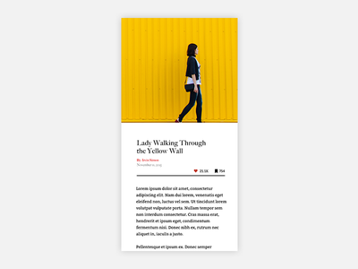 Article View simple serif yellow article