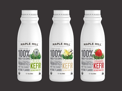 Maple Hill Creamery: Kefir Packaging