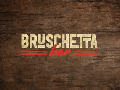 Bruschetta Bar Logo restaurant branding graphic vector flat typography illustrations logo menu branding bruschetta