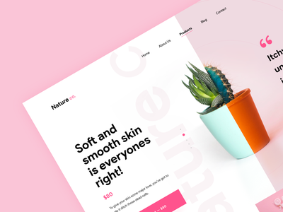 Cosmetics website ecomerse buy health care nature pinkcolor mimimal flat pink typography red website app concept web design colors ui cosmetics product cosmetics