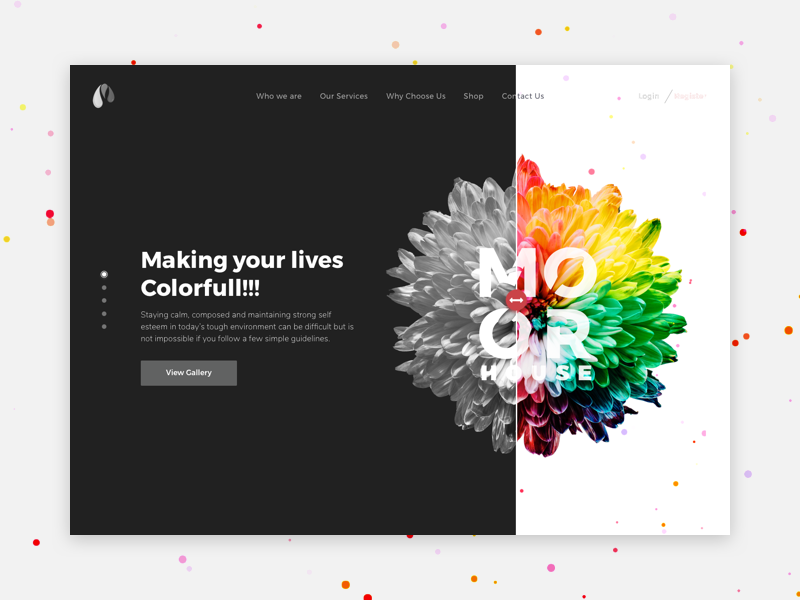MoorHouse- Home page bw concept creative colors web ui slider