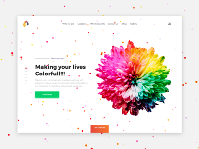 MoorHouse- Home page web ui slider creative concept colors bw