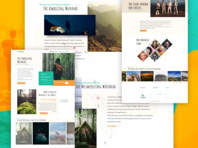 Tentgram website design- Sneak Preview web ui tourism kerala wanderlust tentgram green travel website