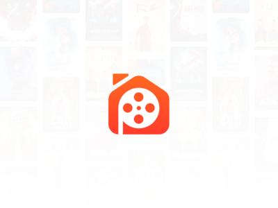 Play House movie film house p p logo minimal branding brand icon app logo