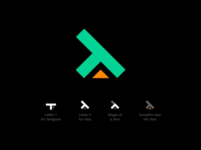 Tentgram Logo logo vector design brand design branding