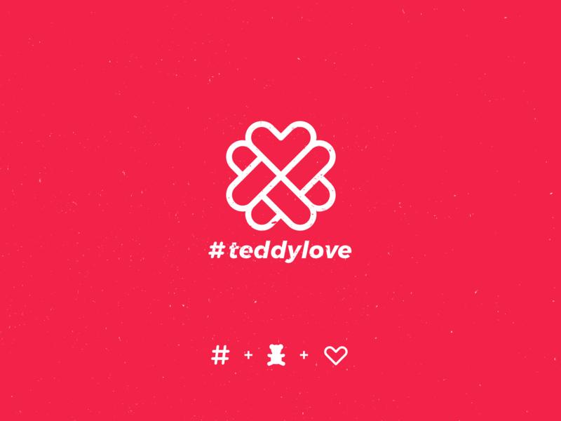 #teddylove vector illustration minimal branding colors concept logodesign logo design logo