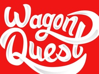 Wagon Quest logo identity radio flyer illustration lettering wagon