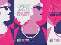 Halftime Concert color flat advertising music pink concert poster illustration minimalism