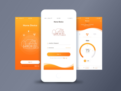 HomeKit Mobile Application UI