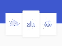 Creative icons for Finance related website.