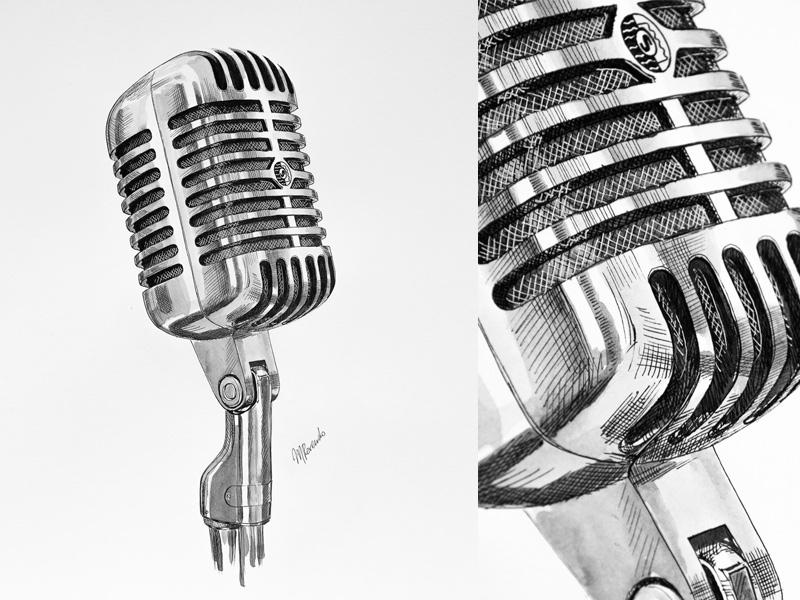 microphone a gift for my friend by mariya rovenko