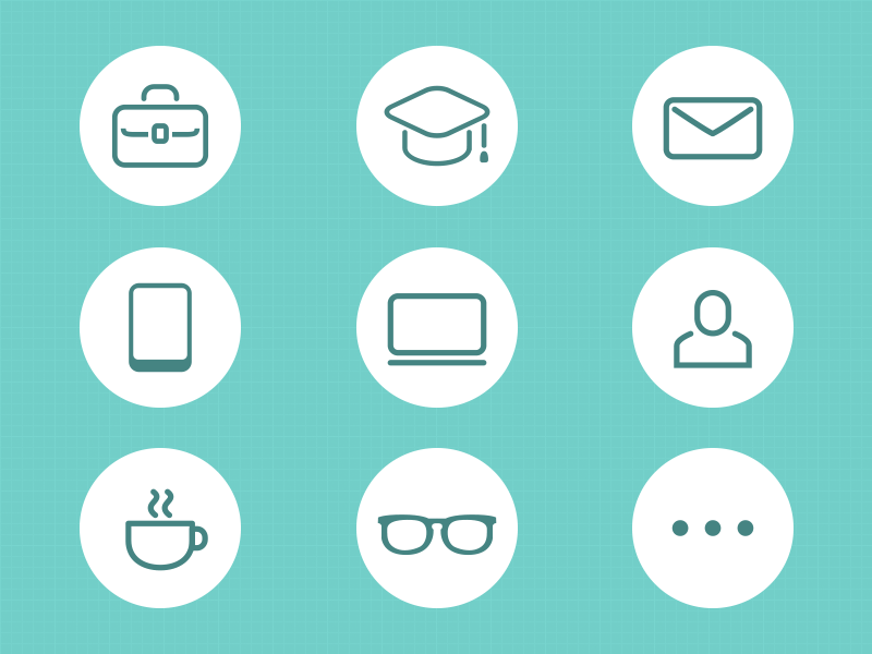 resume icon by hana on dribbble