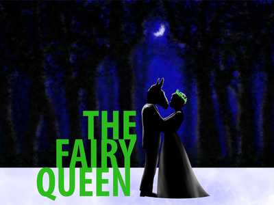 The fairy queen poster illustration paint