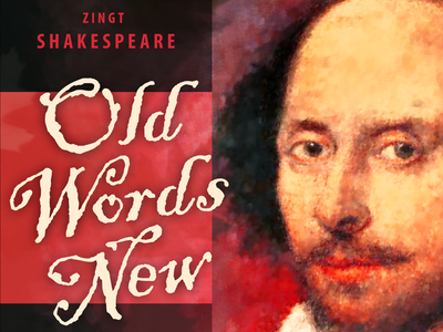 Old Words New portrait poster illustration typography painter
