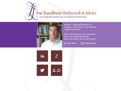 Website Ivo Zandhuis website responsive webdesign