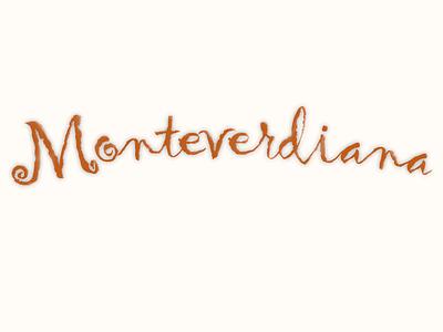 Monteverdiana decoration lettering