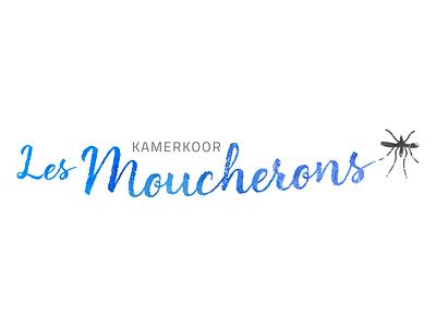 Logo Kamerkoor Les Moucherons typography design paint logo