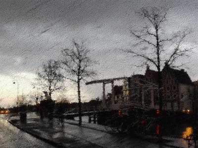 Gravestenenbrug, Haarlem photography rain haarlem painter