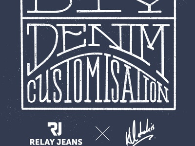 Artwork for my Denim Collaboration project with Relay Jeans relay artwork brand collaboration denim typography denim type blue collar artist collab denim customisation cape town collaborate artist collaboration relay jeans collaboration denim goodtype handlettering illustration type lettering typography