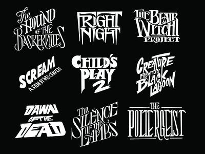Horror movies typographic series