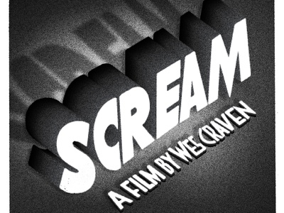 """SCREAM"" Horror typographic series"