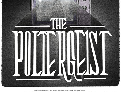 """The Poltergeist"" horror typographic series"