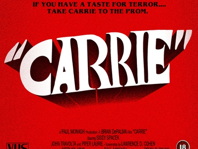 """CARRIE"" - Horror typographic series"