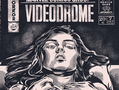 """Videodrome Comic Cover "" Horror month illustration series"