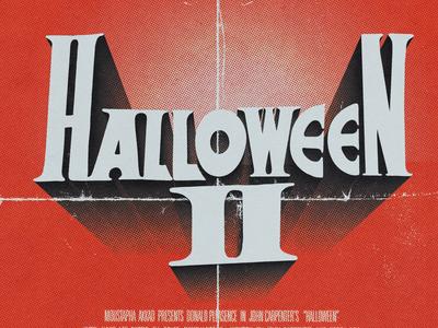 """Halloween 2"" Typographic Poster"