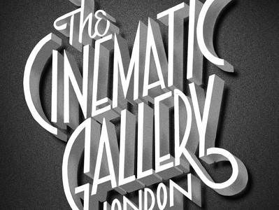 Cinematic gallery LONDON Typographic logo