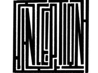 Maze typography : Movie title series