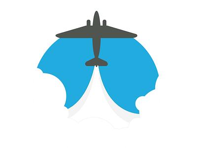FlightDeck Logo WIP logo clouds flat design web ui