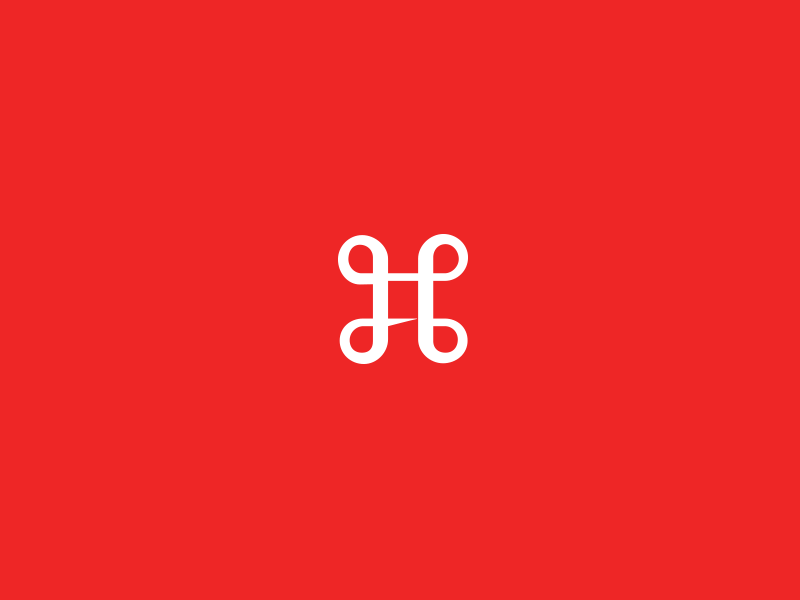 Command /  logo red mark icon