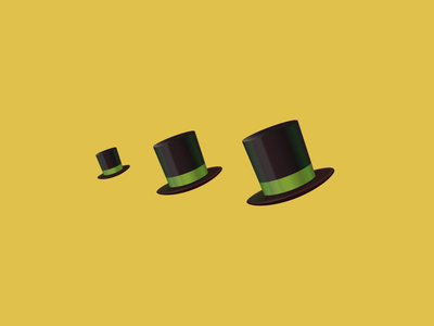 Hat Icon logo illustration top hat icon hat