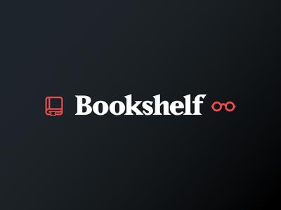 Bookshelf Mark And Icons mark logo bookshelf library reading glasses book icon iconography icons