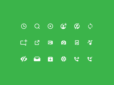 Grasshopper icons search inbox user phone camera chat illustration ui mobile app iconography icons