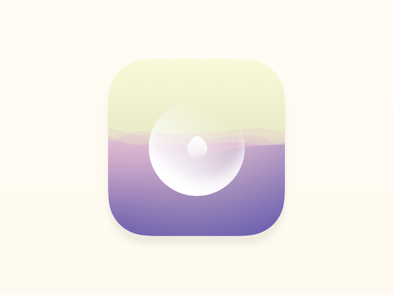 Wavefully Icon light soft wave mindfulness meditation icon app ios