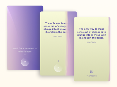 Wavefully screens mindfulness app quote meditation ios wavefully