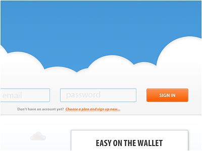 FlightDeck sign in WIP login flightdeck website ui design hosting white